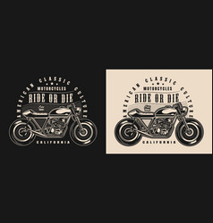 classic motorcycle vintage badge vector image