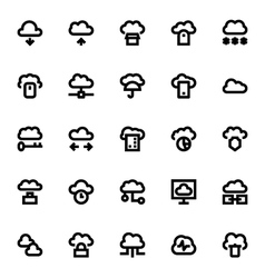 Cloud Data Technology Icons 1 vector