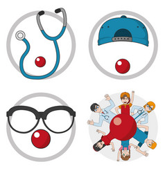 clown doctor cartoon design vector image