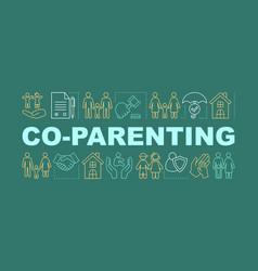 Co-parenting concepts banner vector