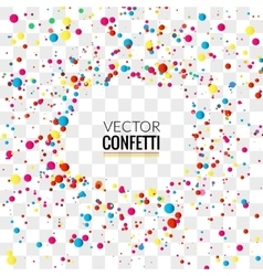 Colorful Confetti on Transparent square Background vector image