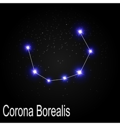 Corona Borealis Constellation with Beautiful vector