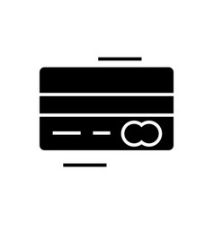 credit card - mastercard icon vector image