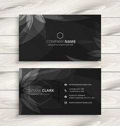 Dark flower business card vector