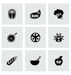 Diet icon set vector image