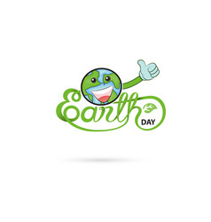 earth day typographical design elements vector image