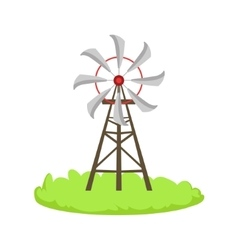 Energy Windmill Structure Cartoon Farm Related vector