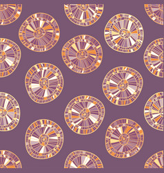 ethnic colorful seamless background from circles vector image