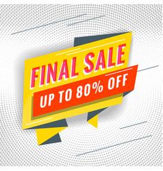 final sale promotional concept template vector image