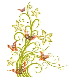 Flowers autumn fall vector
