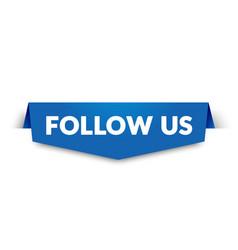 follow us label modern web banner design vector image