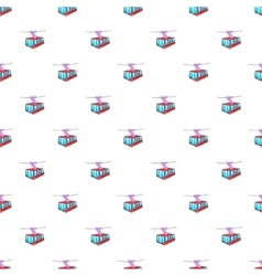 Funicular railway pattern cartoon style vector