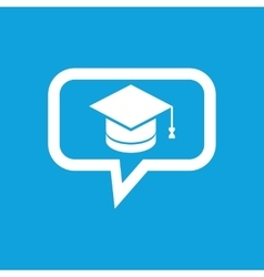 Graduation message icon vector