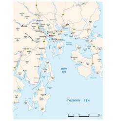 Greater hobart road map tasmania australia vector