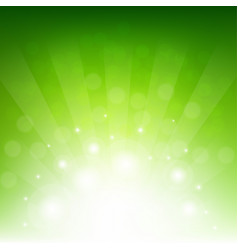 green sunburst eco background vector image