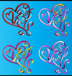 heart shape valentine graphic vector image