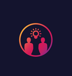 Idea insight brainstorm thinking icon vector