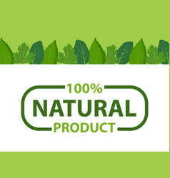 kitchen herbs framing eco products organic logo vector image