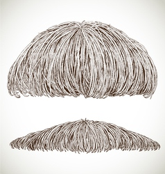Lush retro mustache vector