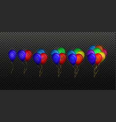 many colored balloon effect vector image