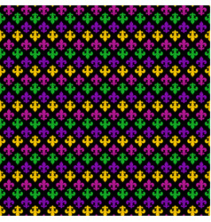 mardi gras carnival seamless pattern with fleur-de vector image