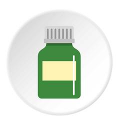 Medicine bottle icon circle vector