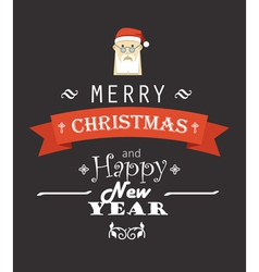Merry christmas decorative invitation card vector