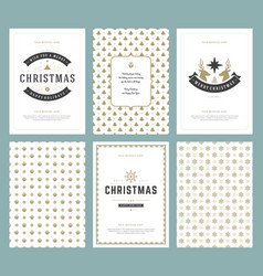 merry christmas greeting cards templates and vector image