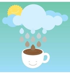 Morning coffee optimistic vector