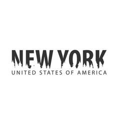 new york usa united states of america text or vector image