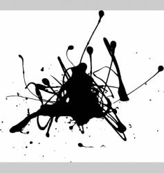 oil splat vector image