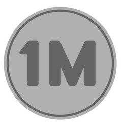 One million silver coin vector