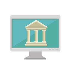 Online education concept icon vector