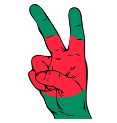 Peace Sign of the Bangladeshi flag vector