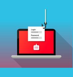 Phishing concept hacker stealing login password vector