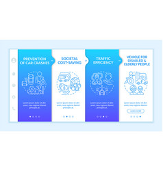 Prevention car crashes onboarding template vector