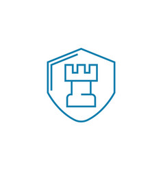 protection systems development linear icon concept vector image