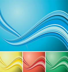 quad wave background vector image