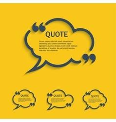Quote line cloud speech bubbles set vector