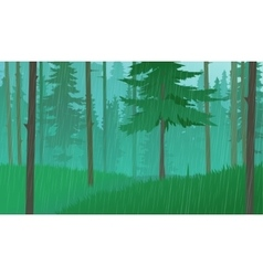 Rain In The Forest vector