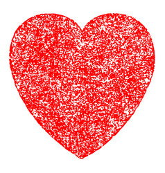 red heart sign with paint texture vector image