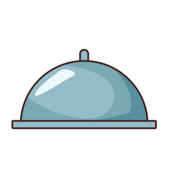 restaurant food cloche cartoon vector image