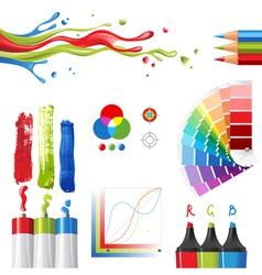 Rgb color mode design elements vector