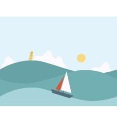 Seamless Cartoon Nature Marine Landscape vector