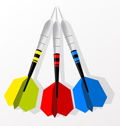 Set of darts vector image