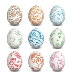 Set of Isolated Easter eggs Easter vector