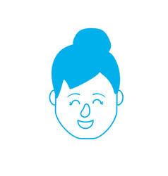silhouette avatar woman head with hairstyle design vector image