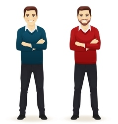 Smiling handsome casual man vector