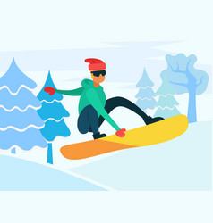 snowboarding extreme winter sports hobman vector image