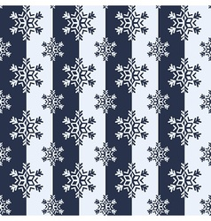 Snowflakes winter pattern vector image